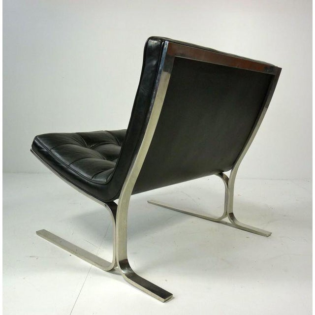 Nicos Zographos Black Leather Lounge Chair - Image 6 of 6