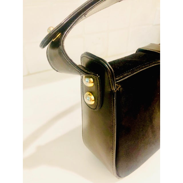 1980s Saks Fifth Avenue Suede and Leather Shoulder Bag For Sale - Image 11 of 13