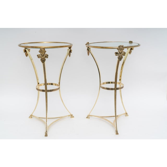 French French Regency Style Brass Side Tables by Maison Jansen - a Pair For Sale - Image 3 of 11