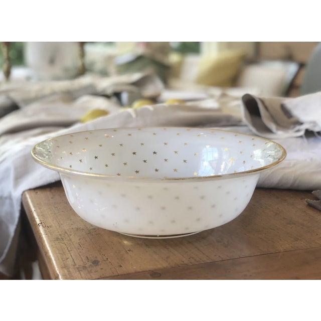 White 19th Century Vintage French Opaline Glass Bowl For Sale - Image 8 of 9