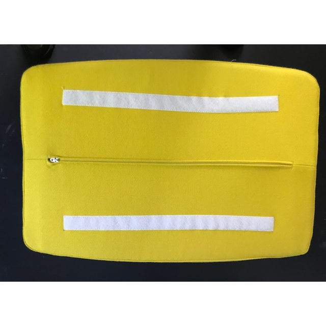 Aluminum B & B Italia Contemporary Yellow Ottoman Designed by Jeffrey Bernett For Sale - Image 7 of 8