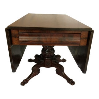 1820's American Federal Drop Leaf Breakfast Table For Sale