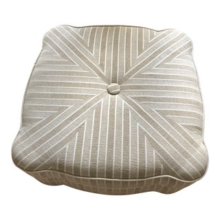 Custom Natural Transitional Ottoman For Sale