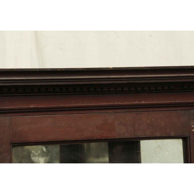 American Wooden Cabinet With Mirrored Bottom For Sale - Image 3 of 8
