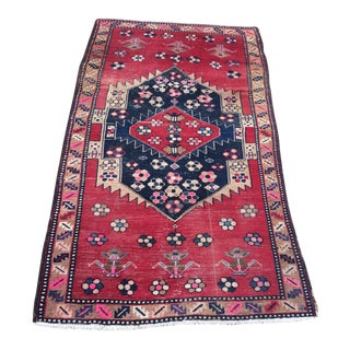 Early 20th Century Antique Turkish Caucasian Accent Rug - 4′ × 6′9″ For Sale