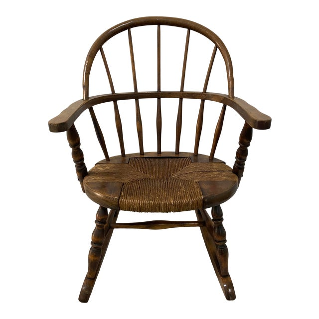 Late 19th Century Childs Windsor Rocking Chair For Sale