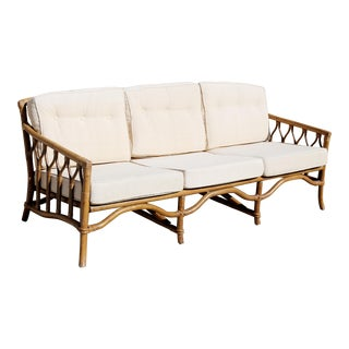 Vintage Ficks Reed Rattan Sofa For Sale