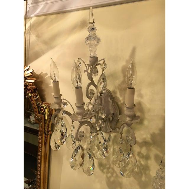 Gold Schonbek Renaissance Style Three Light Wall Sconces- Set of Six For Sale - Image 8 of 9