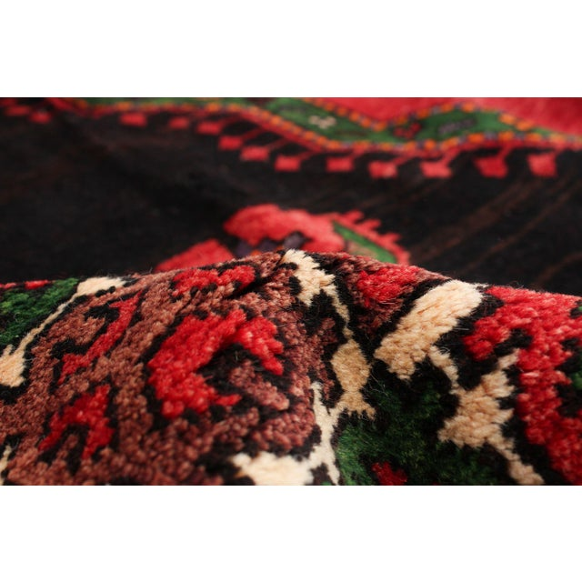 Hand-Knotted Turkish Red Rug For Sale - Image 6 of 9