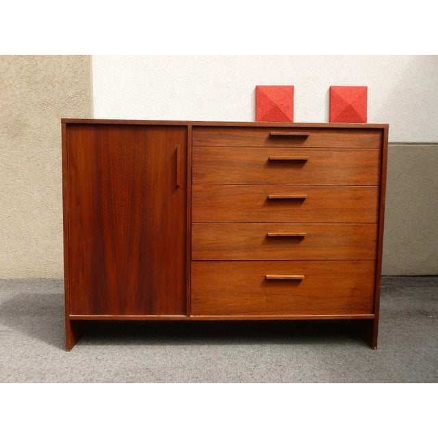 1960's Mid-Century Danish Modern Architectural Bachelors Chest For Sale - Image 10 of 10