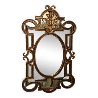 La Barge Scroll and Fleur De Lis Mirror For Sale