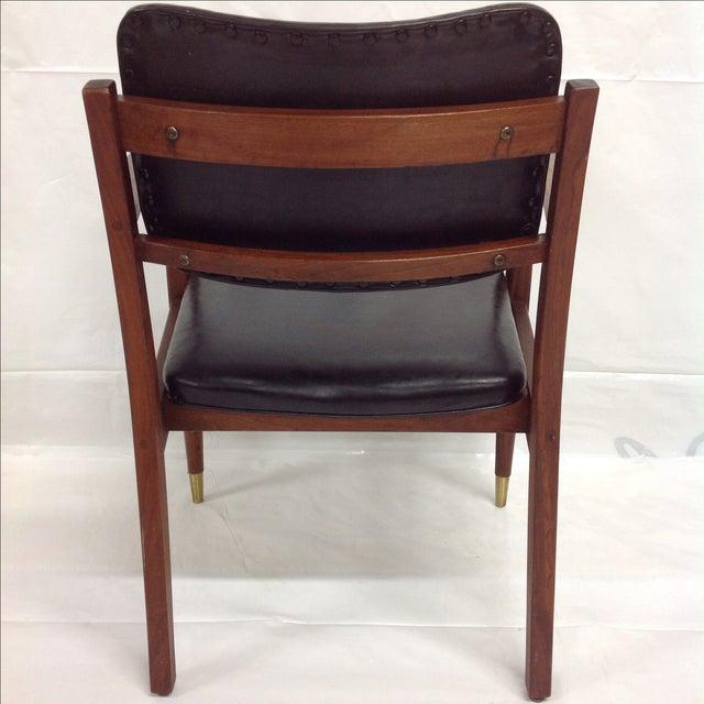 Danish Modern Oiled Walnut Executive Chair - Image 5 of 5