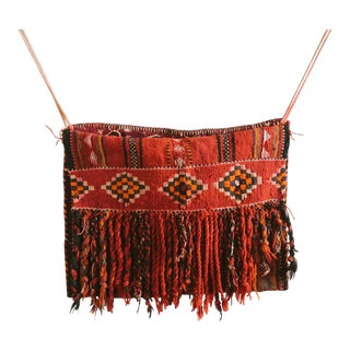 Vintage Bedouin Camel Saddle Bag For Sale