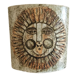 Textured Sun Vase by Roger Capron For Sale