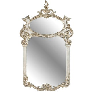Trumeau Style Hand Carved Mirror For Sale