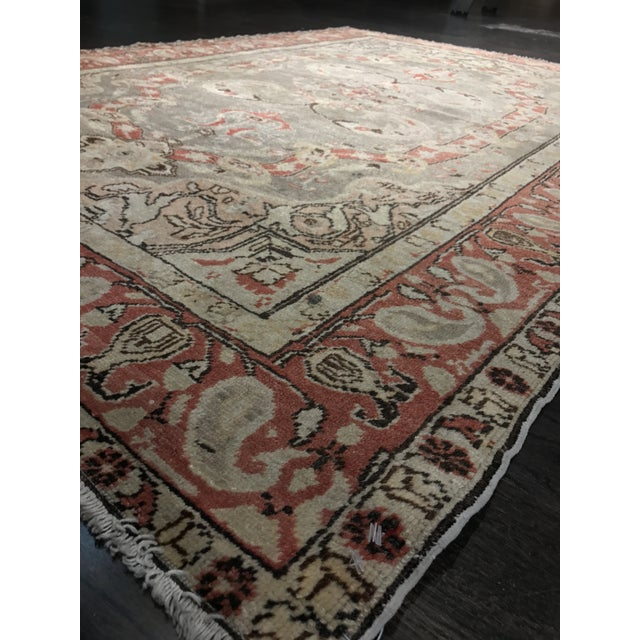 "Bellwether Rugs Antique Turkish Oushak Rug - 4'3""x6'2"" - Image 7 of 10"