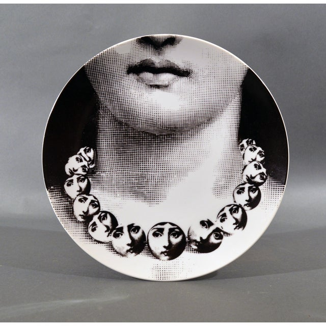 Piero Fornasetti Porcelain Plate Themes & Variation Pattern 107, Tema E Variazioni, the Necklace For Sale In Philadelphia - Image 6 of 6