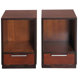 Pair of 1933 Gilbert Rohde Herman Miller Art Deco World's Fair Nightstands Matched
