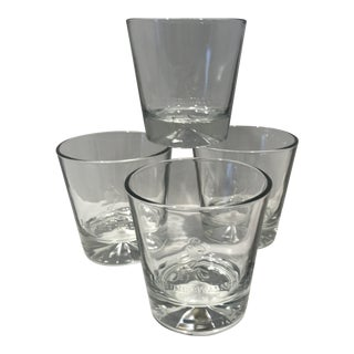 Johnnie Walker Diamond Bottom Crystal Lowball Glasses - Set of 4 For Sale