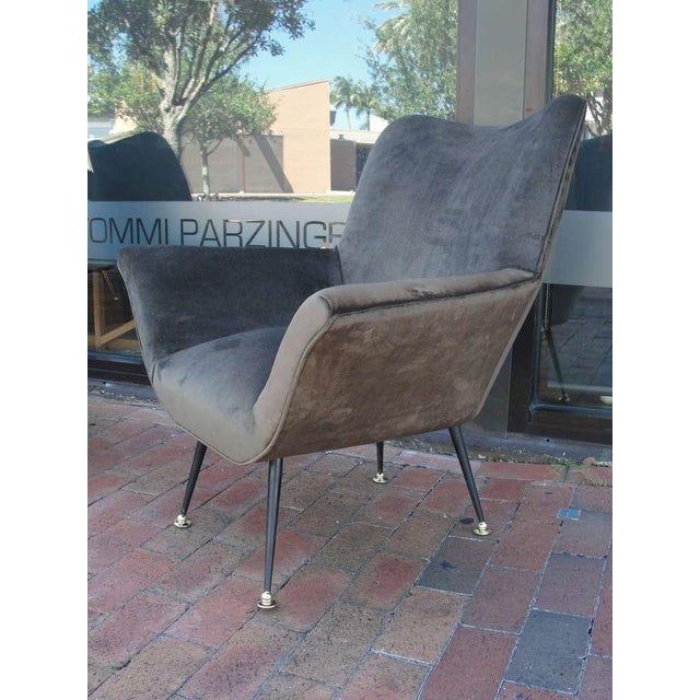 Pair of Italian Open-Arm Chairs For Sale In Miami - Image 6 of 7