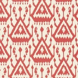 Image of Schumacher Vientiane Ikat Wallpaper in Coral - 2-Roll Set (9 Yards) For Sale