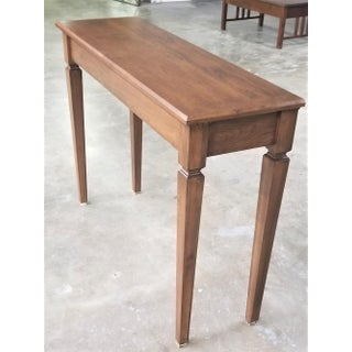 Italian Style Solid American Cherry Tall Console Sofa Side Table Preview