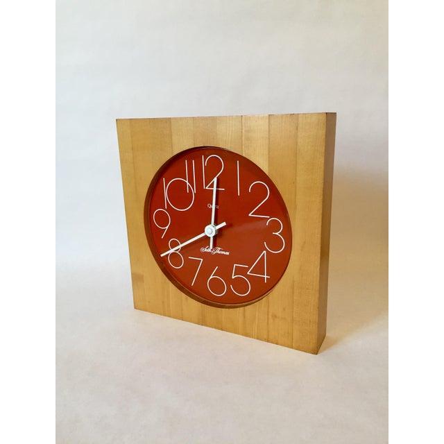 Enamel Vintage Enamel Butcher Block Seth Thomas Clock For Sale - Image 7 of 7