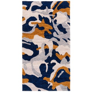 Carini Contemporary Camo Wool Rug - 3′ × 6′ For Sale