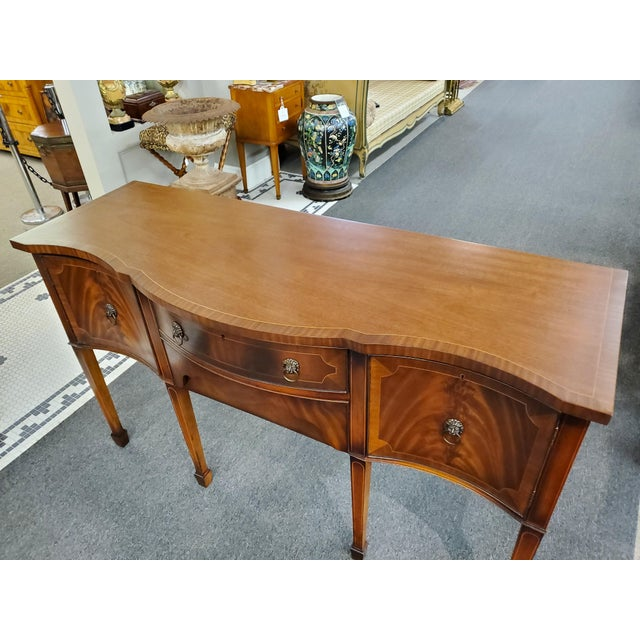 Antique Georgian Style Flamed Mahogany Sideboard For Sale In Houston - Image 6 of 13