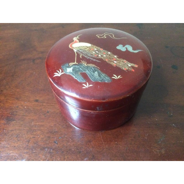 Asian Mid-Century Japanese Kyowa Lacquered Coasters in Box - Set of 5 For Sale - Image 3 of 8