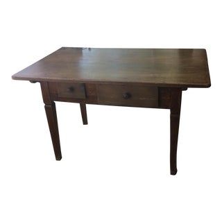 1800's French Country Walnut Table For Sale