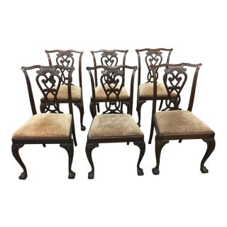 Vintage Italian Chippendale Dining Chairs - Set of 6