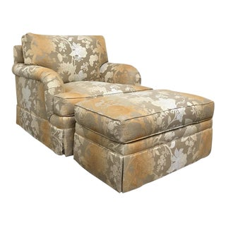 RJones Adolfo Lounge Chair & Matching Ottoman - A Pair For Sale