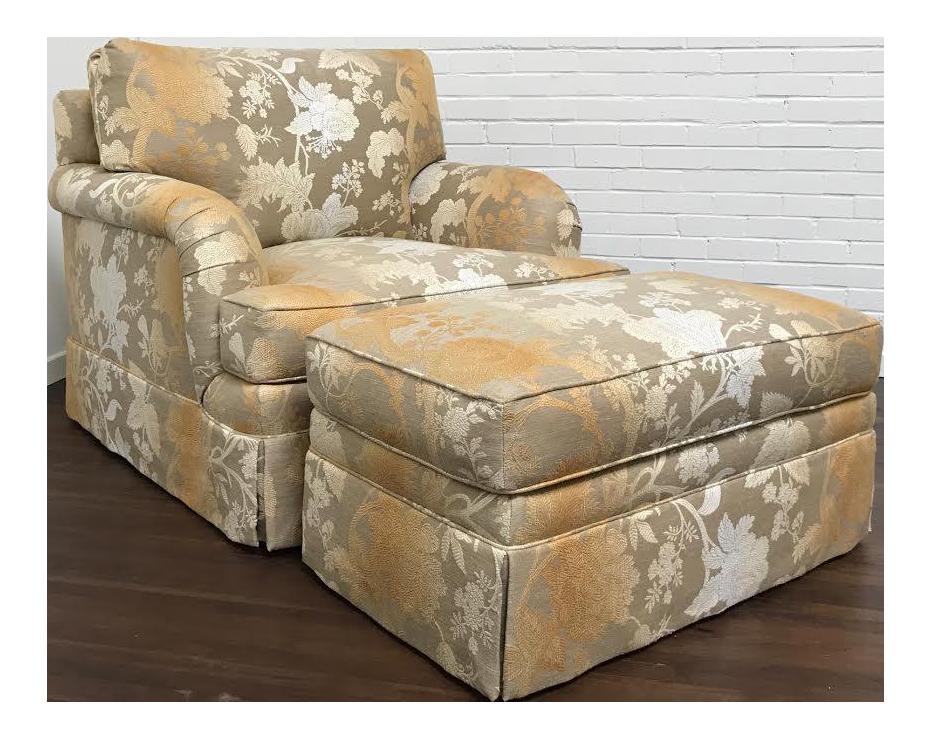 RJones Adolfo Lounge Chair U0026 Matching Ottoman   A Pair