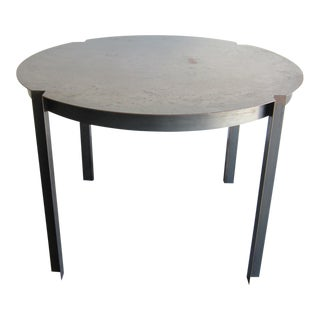 Distressed Steel Dining Table For Sale