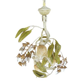 Murano & Tole Style Floral Chandelier