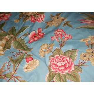 "1990s Brunschwig & Fils ""Chesterfield"" Pattern Blue Floral Fabric For Sale"