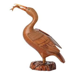 Woven Wicker Cormorant Box For Sale