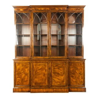 English Mahogany Wood Hutch / China Cabinet For Sale