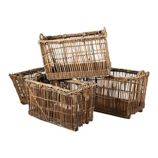 1930s French Baguette Baskets For Sale