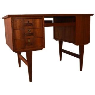 Small Free Standing Teak Desk