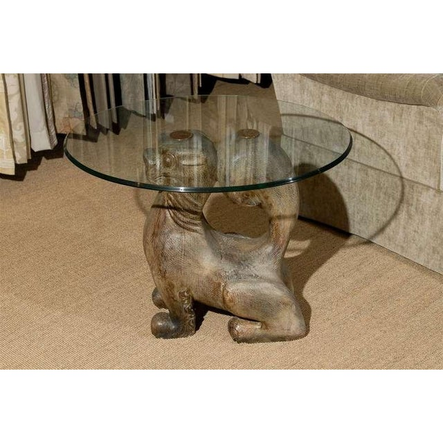 Dramatic Pair of Hand-Carved Foo Dog Tables by Sarreid Ltd For Sale In Atlanta - Image 6 of 11