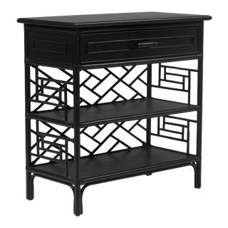 Chippendale End Table - Black For Sale