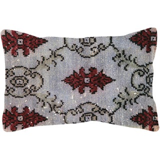 "Nalbandian - Overdyed Turkish Oushak Lumbar Pillow - 15"" X 24"" For Sale"