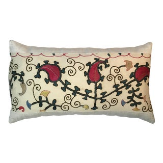 1920s Mediterranean Hand Embroidery Suzani Pillow For Sale