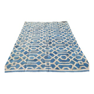 Patterned Contemporary Kilim Rug - 8′2″ × 9′11″ For Sale