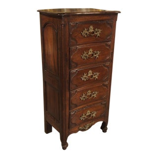 18th Century Walnut and Oak Chiffonier Chest of Drawers From France For Sale
