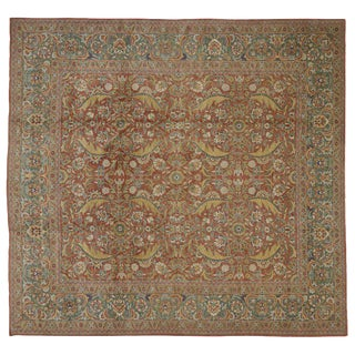 20th Century Turkish Oushak Rug - 12′3″ × 13′ For Sale