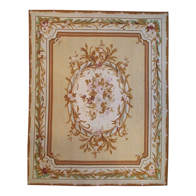 """Pasargad Aubusson Hand Woven Wool Rug - 9' 8"""" x 12' 1"""" - Image 1 of 3"""