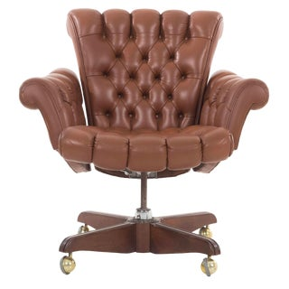 1960s Vintage Edward Wormley Executive Office Chair For Sale